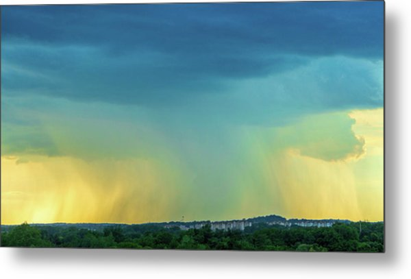 Storm Over Spring View Apartments Metal Print