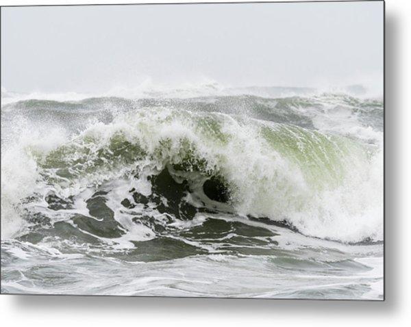 Storm Surf Spray Metal Print