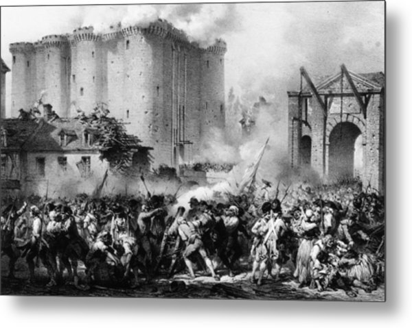 Storming The Bastille Metal Print by Hulton Archive