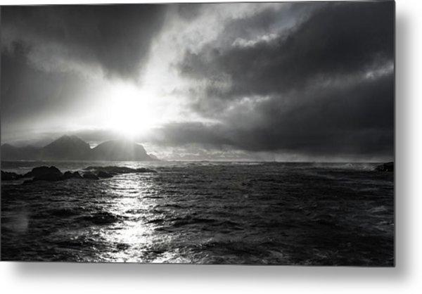 stormy coastline in northern Norway Metal Print