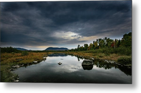 Stormy Day In Maine Metal Print