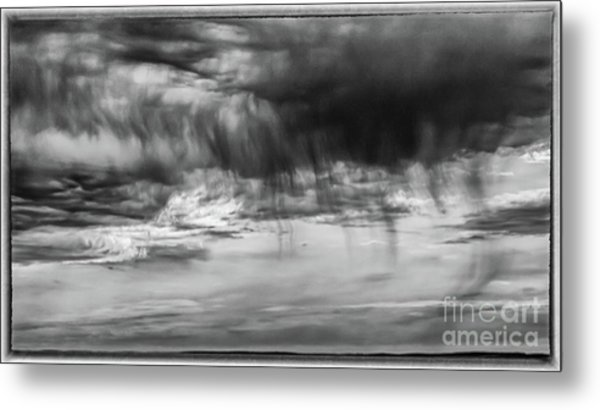 Stormy Sky In Black And White Metal Print