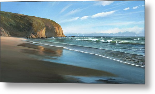 Strands Beach Dana Point Oil Painting Metal Print