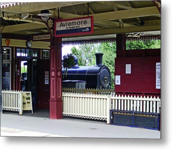 Strathspey Railway. Caladonian Railway 828 Metal Print