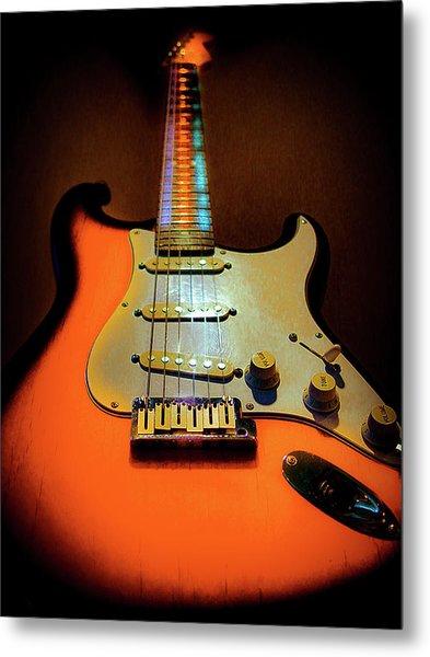 Stratocaster Triburst Glow Neck Series Metal Print
