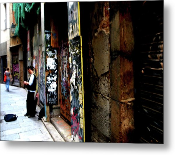 Metal Print featuring the photograph Street, Graffiti  by Edward Lee