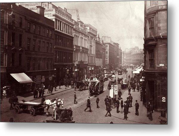 Street In Glasgow Metal Print by Hulton Archive