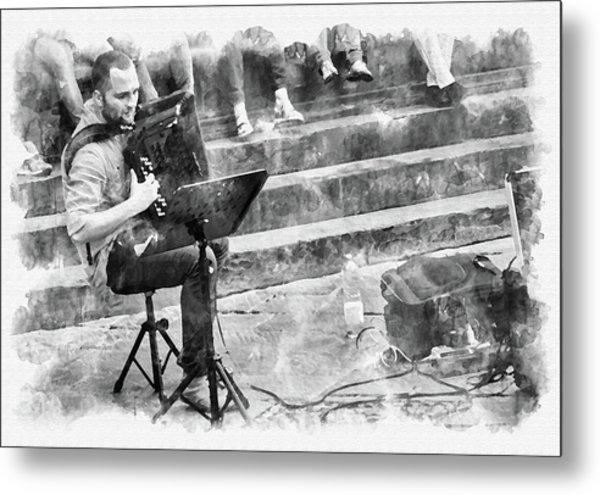 Street Musician In Florence Metal Print