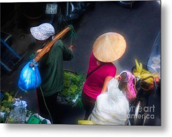 Streets Of Hanoi 2 Of 4 Flare  Metal Print