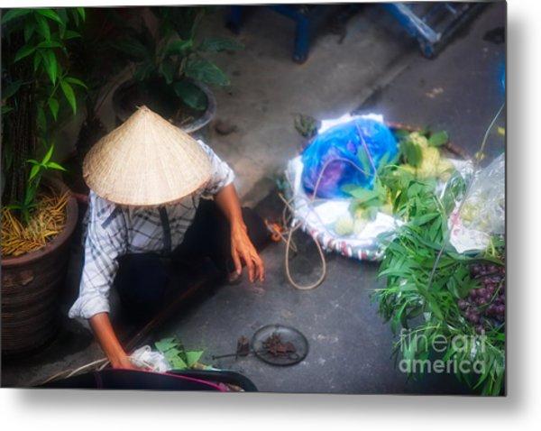 Streets Of Hanoi 2 Of 6 Metal Print