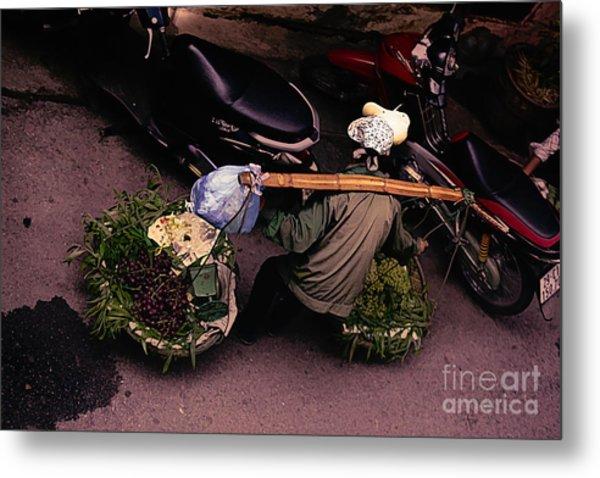 Streets Of Hanoi Digital Art  Metal Print