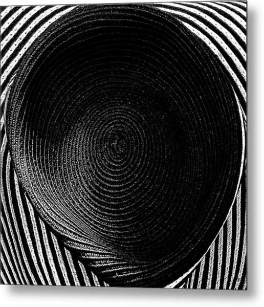 Striped Hat Metal Print