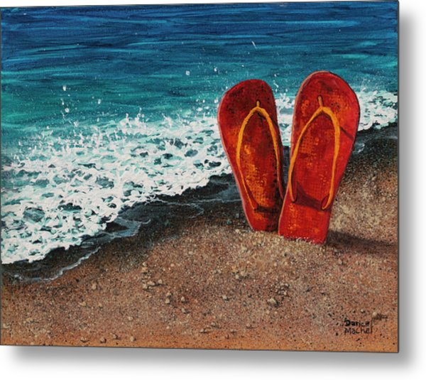 Metal Print featuring the painting Stuck In The Sand by Darice Machel McGuire