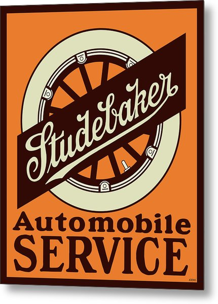Studebaker Auto Sign Metal Print