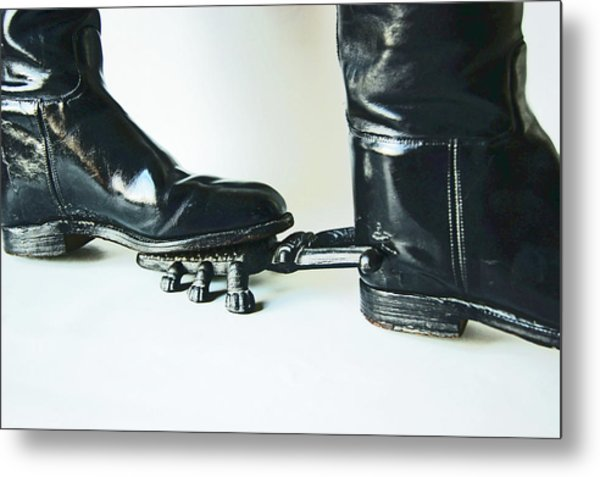 Studio. Boots And Boot Pull. Metal Print