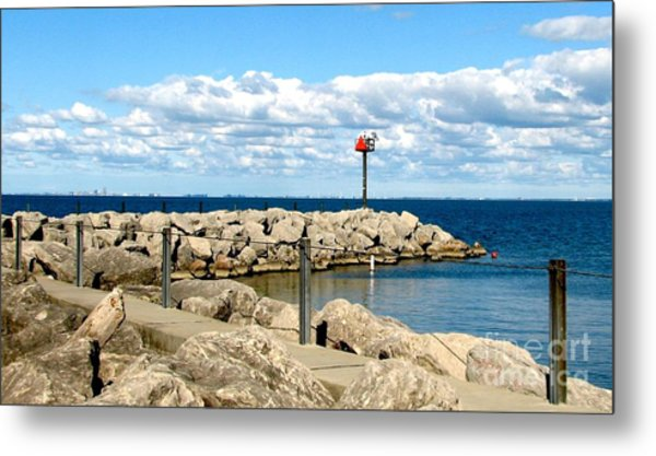 Sturgeon Point Marina On Lake Erie Metal Print