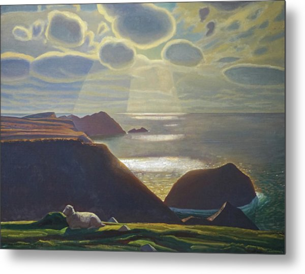 Sturrall Donegal Ireland Metal Print by Rockwell Kent