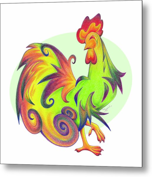 Stylized Rooster I Metal Print
