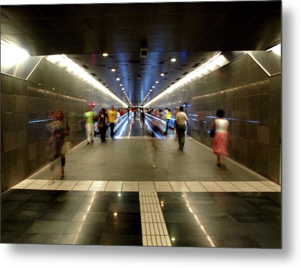 Metal Print featuring the photograph Subway Ghosts  by Edward Lee