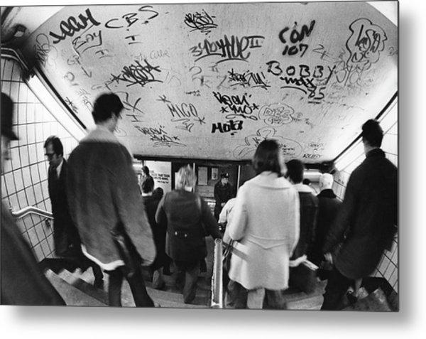 Subway Graffiti Metal Print by Fred W. McDarrah
