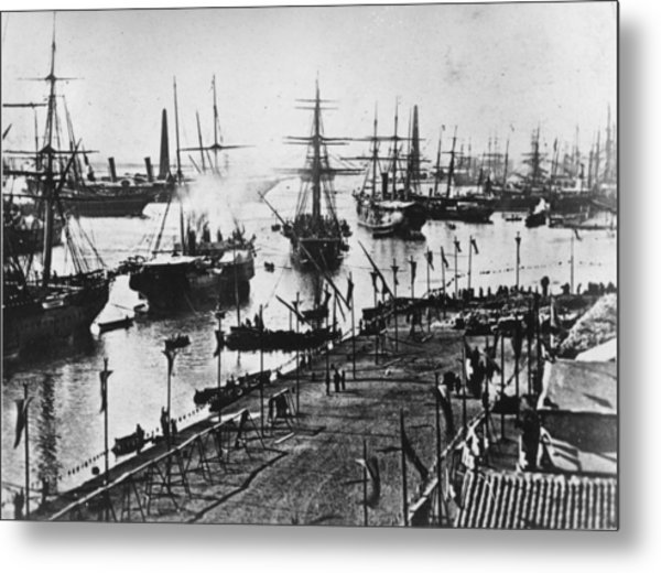Suez Canal Opened Metal Print