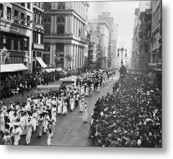 Suffragette Parade Metal Print by Paul Thompson