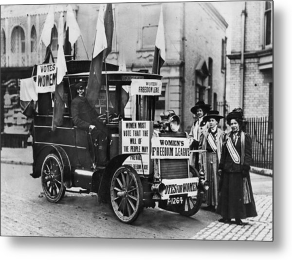 Suffragettes Campaign Metal Print by Topical Press Agency