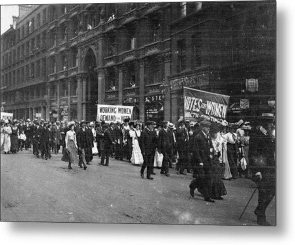 Suffragettes Metal Print by F. J. Mortimer