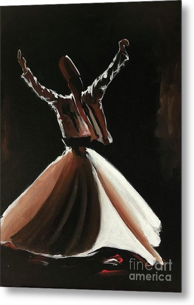 Metal Print featuring the painting Sufi-s001 by Nizar MacNojia