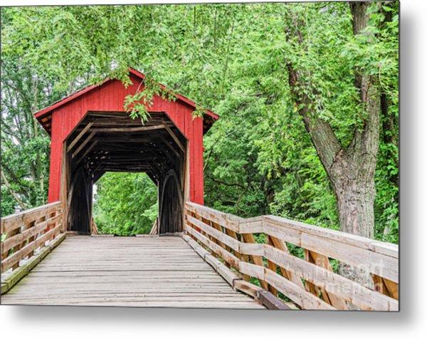 Sugar Creek Covered Bridge Metal Print