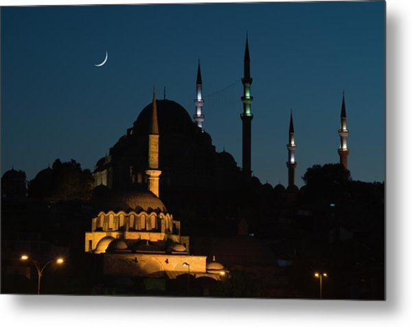 Suleymaniye Mosque And Rustem Pasha Metal Print