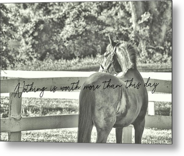 Summer's Eve Quote Metal Print by JAMART Photography