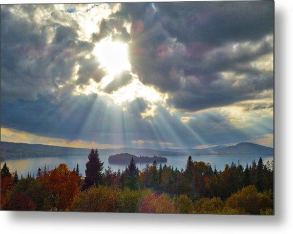 Sun Rays Over Rangeley Lake Metal Print