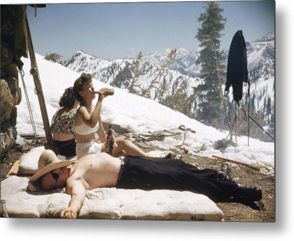 Sun Valley Snow Metal Print