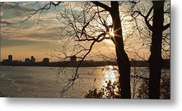 Metal Print featuring the photograph Sunburst Over Ottawa Skyline by Tatiana Travelways