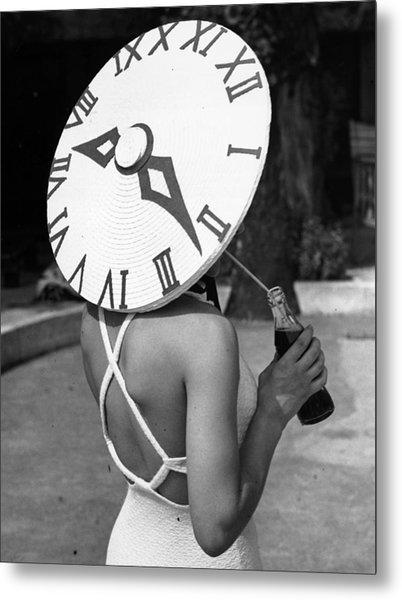 Sundial Hat Metal Print by Gerry Cranham