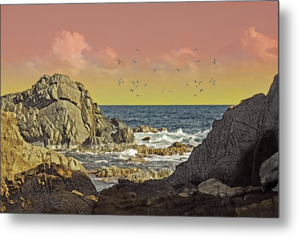 Sundown At Buck Metal Print