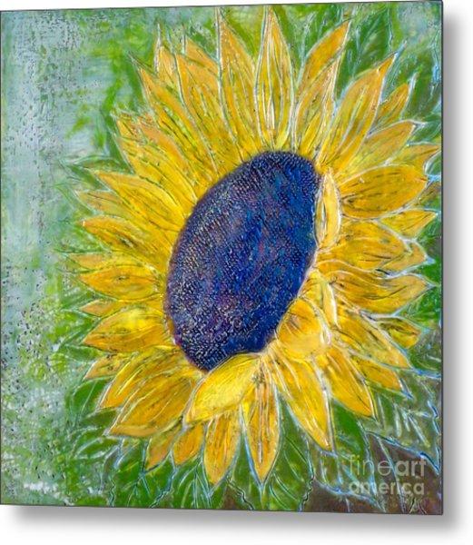 Sunflower Praises Metal Print