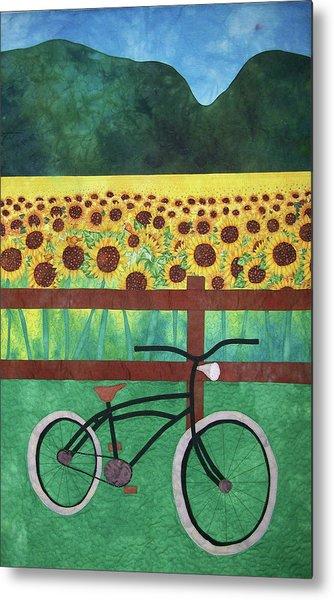 Sunflowers At Whitehall Farm Metal Print