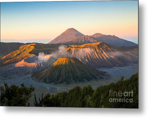 Sunrise At Mount Bromo Volcano, The Metal Print