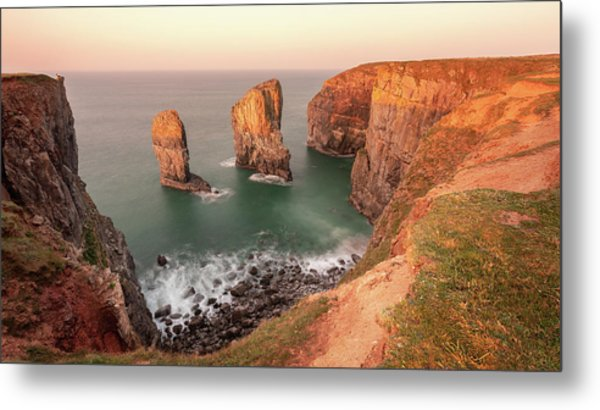 Metal Print featuring the photograph Sunrise At Stack Rocks by Elliott Coleman