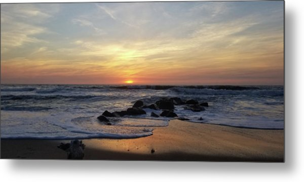 Sunrise At The 15th St Jetty Metal Print