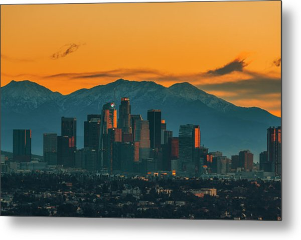 Sunrise In La Metal Print