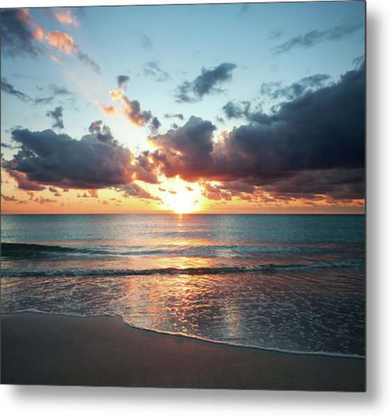 Sunrise In Miami Metal Print by Tovfla