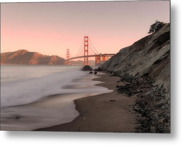 Sunrise In San Fransisco- Metal Print