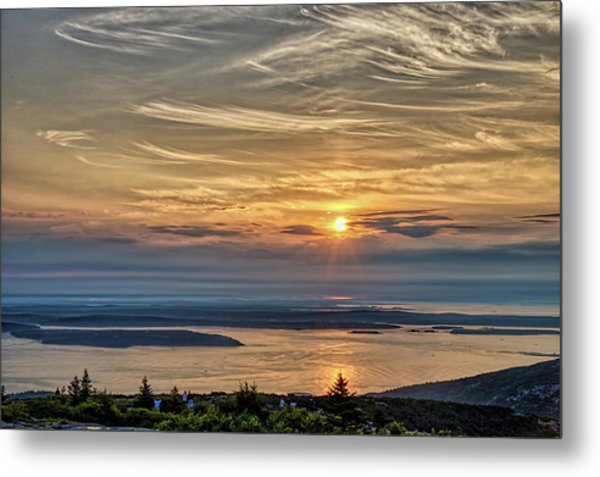 Sunrise On Mt. Cadillac Metal Print by Zev Steinhardt