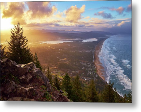 Sunrise On Neahkahnie Metal Print
