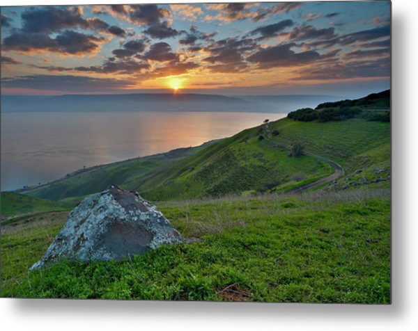 Sunrise On Sea Of Galilee Metal Print by Ilan Shacham