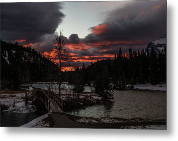 Sunrise Over Cascade Ponds, Banff National Park, Alberta, Canada Metal Print