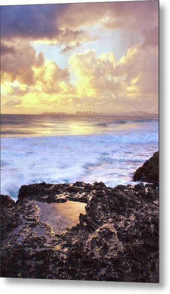 Sunrise Over Coolangatta Metal Print by Nancy Branston
